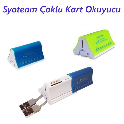 By SIYOTEAM Bluetooth 2.0 Çoklu Kart Okuyucu / SY-695