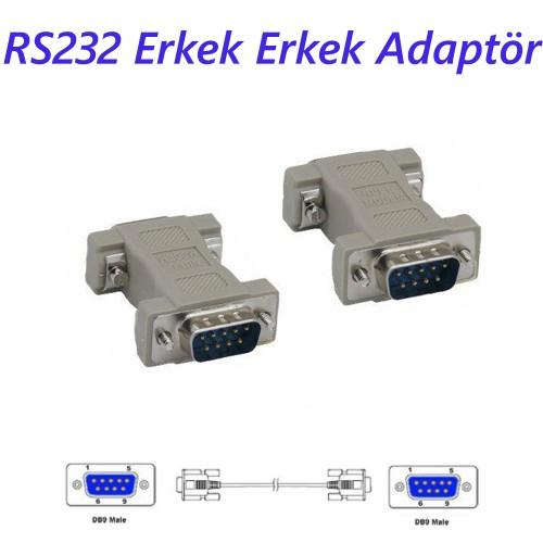 RS232 Erkek Erkek Adaptör DB9 Erkek to DB9 ErkekNull Modem Adapter