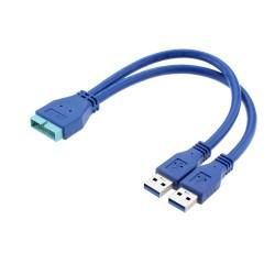 2 Port USB3.0 USB 3.0 A Erkek Anakart Anakart 20 Pin Kablo