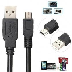3 Metre 5 Pin Kablo Mini Usb Kablo Filtreli