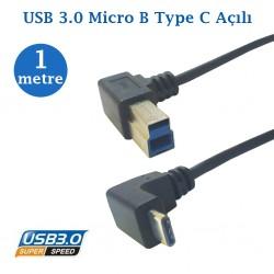 Type c Erkek Usb 3.0 B Erkek Kablo 1 Metre