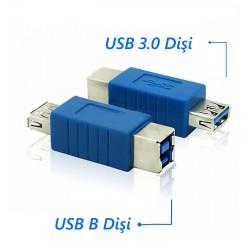 USB 3.0 A Dişi to USB B Dişi Dönüştürücü