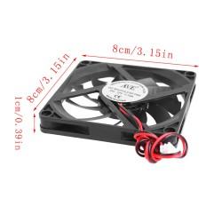 80x80x10mm 12V 2-pin soğutma fanı