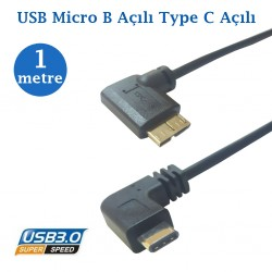 Type C Erkek Usb Micro B Data Şarj Kablosu 1 Metre