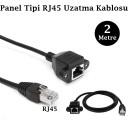RJ45 Panel Montajlı Ethernet Uzatma Kablosu - 2 Metre