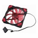 12 Cm Işıklı Kırmızı Ledli Fan 12 Volt