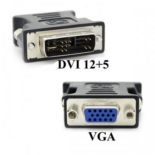 DVI 12+5 Erkek to VGA Dişi Dönüştürücü