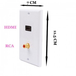 HDMI Female + 1RCA Duvar Paneli