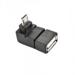 USB 2.0 A Female to Micro 5 Pin 90 Degree UP Angled Male Plug Adapter Covertor