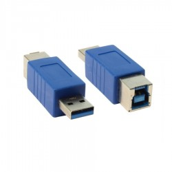 USB 3.0 A Erkek / USB B Dişi Dönüştürücü