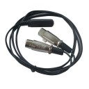 TRS Ses Y Kablosu Çift 3-Pin XLR Dişi 1/4 ''6.35mm Dişi Jack - 1,5 Metre