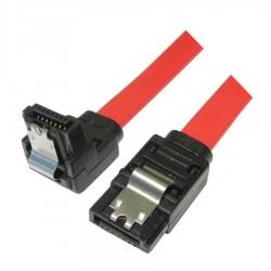 Sata Kablo 7P/7P - 180/90 Derece Açılı Bakır Data Kablosu 45cm