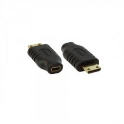Mini HDMI M / Mikro HDMI F Dönüştürücü - Gold/Black