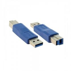 USB 3.0 A M / USB A F Dönüştürücü - Nickel/Blue