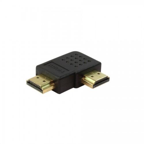 HDMI Erkek / HDMI Erkek 90Derece Dönüştürücü - Gold/Black