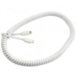 Spiral Micro USB 5Pin Erkek to Mini USB 5Pin Erkek Kablo - 1Metre