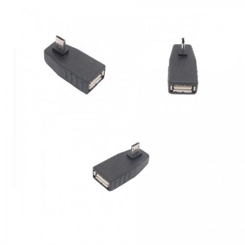 USB 2.0 Dişi to Micro 5 Pin 90 Derece Açılı Erkek Dönüştürücü