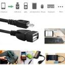 Micro USB Erkek / USB 2.0 Dişi Dönüştürücü (OTG Kablo) - 7cm