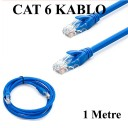 CAT 6 Patc Ethernet Kablo 23AWG Fabrikasyon - 1 Metre - Mavi