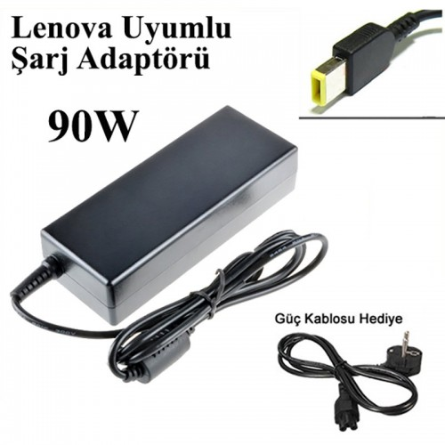 For Lenova Notebook Adaptörü 20V 90W 4.5A Kare Uç