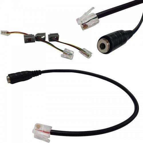 3.5mm Jack - 4P4C RJ9 Telefon Kulaklık Kablosu