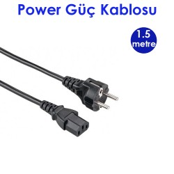 1.5 Metre Power Kablo Bilgisayar Güç Kablosu
