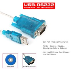 USB to RS232 Çevirici Kablo Uydu Yazılım Güncelleme