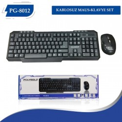 Kablosuz Wireless Klavye Mouse Set